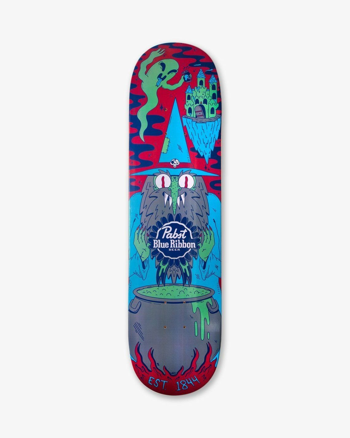 Ride With The Wizard Skateboard By Dakota Cates For Pabst Blue Ribbon 1