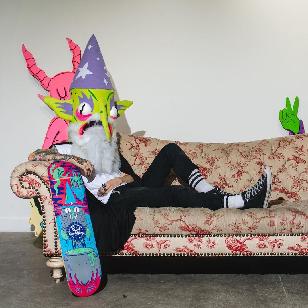 Ride With The Wizard Skateboard By Dakota Cates For Pabst Blue Ribbon 4