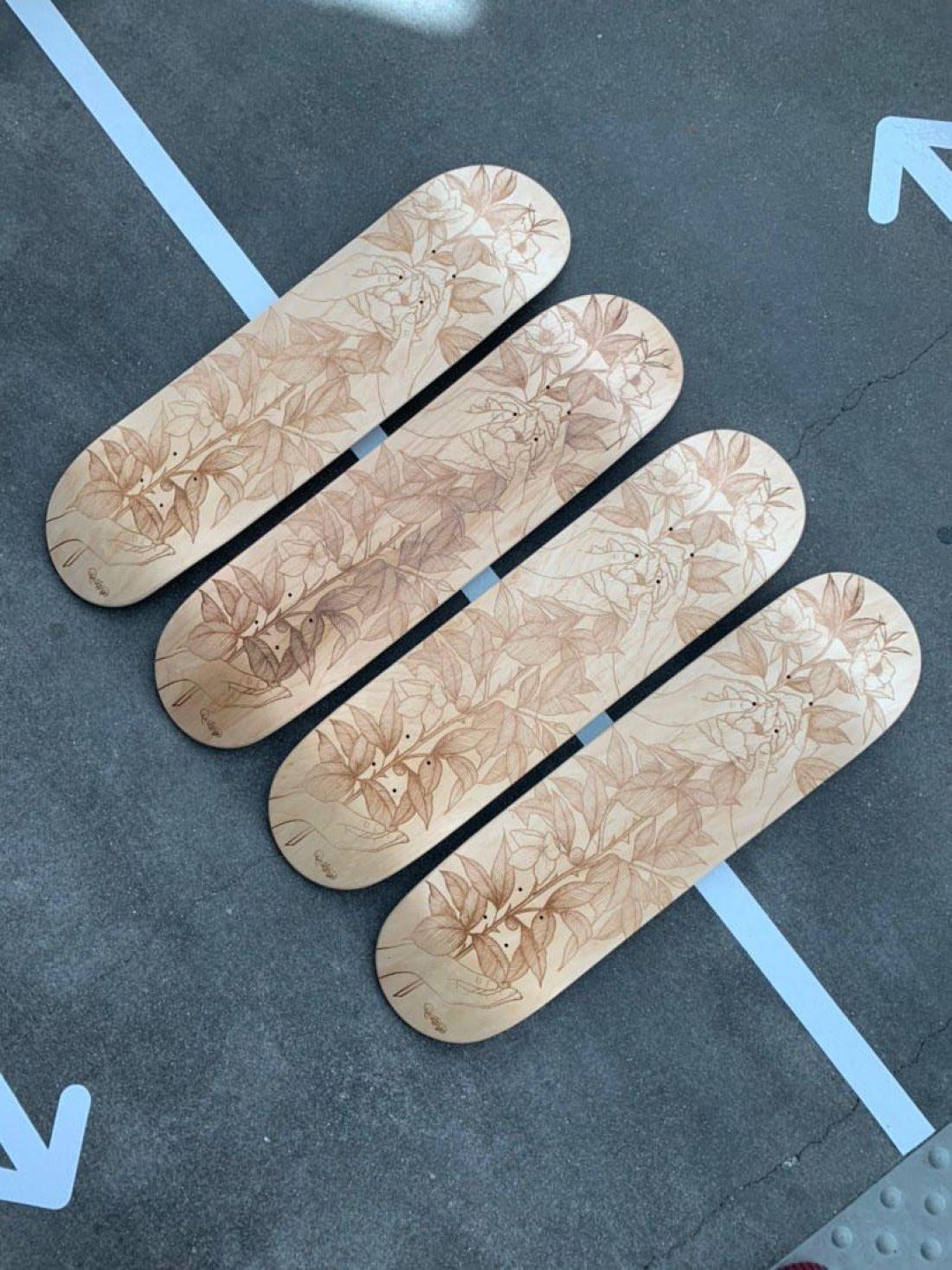 De Lange X Le Shape Engraved Skateboard 10