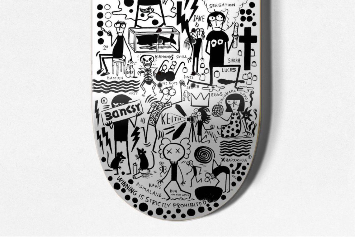 Dead Artist Walking Skateboard By Fausto Gilberti X Bonobolabo 3