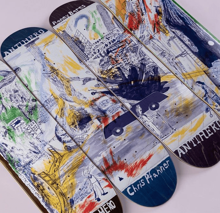 Sf Then And Now Series Par Chris Johanson X Anti Hero Skateboards 5