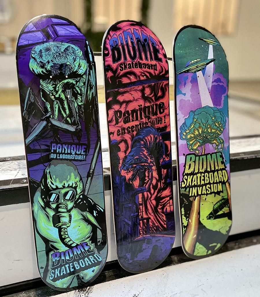 Micro Monstres Series By Skorp X Biome Skateboards.7