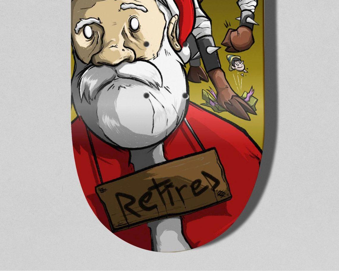 Retired Skateboard By Theevilart X Bonobolabo 3