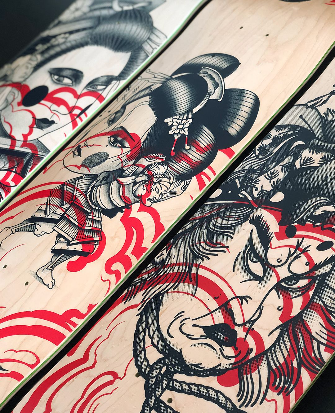 Geisha Series By Plot X Doble Skateboards 13