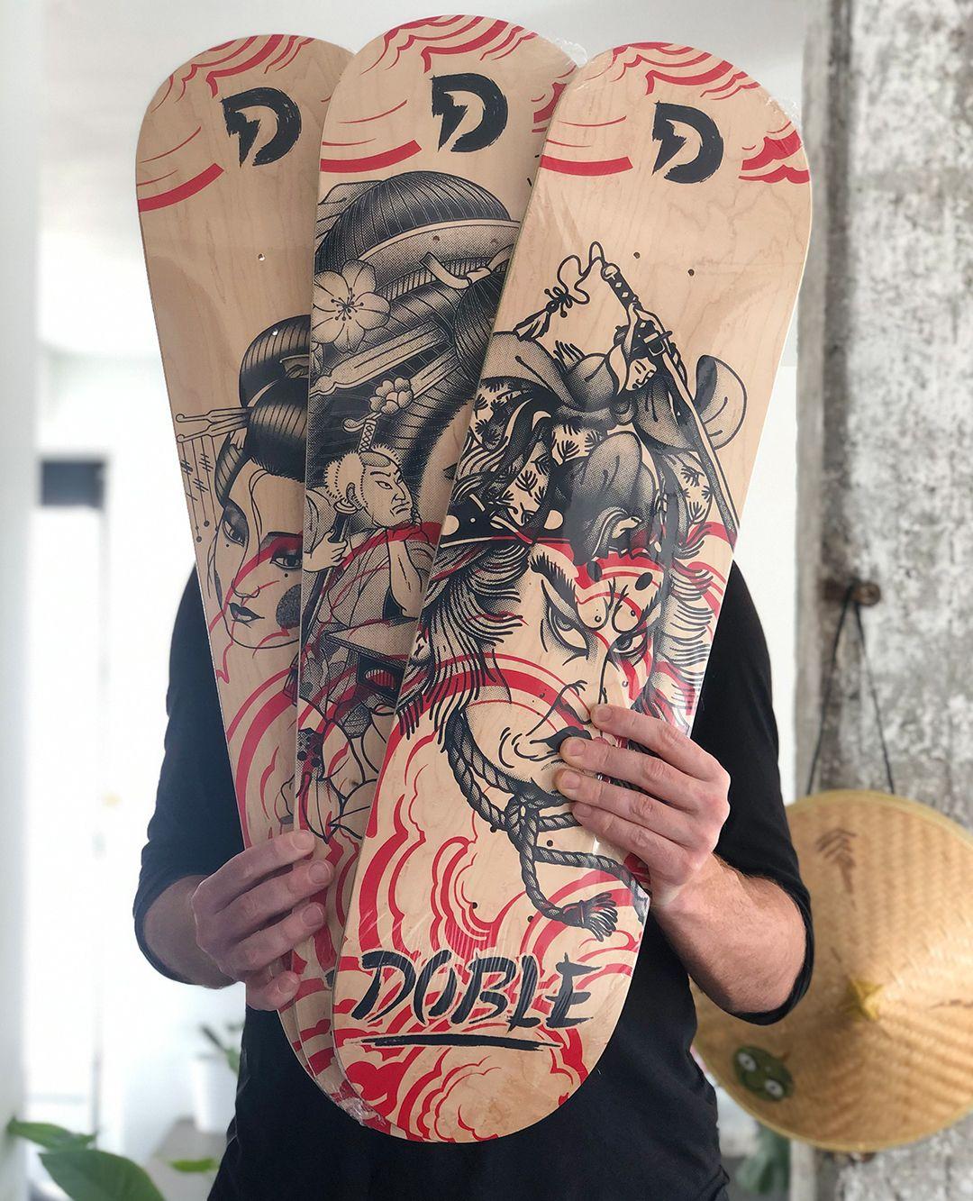 Geisha Series By Plot X Doble Skateboards 6