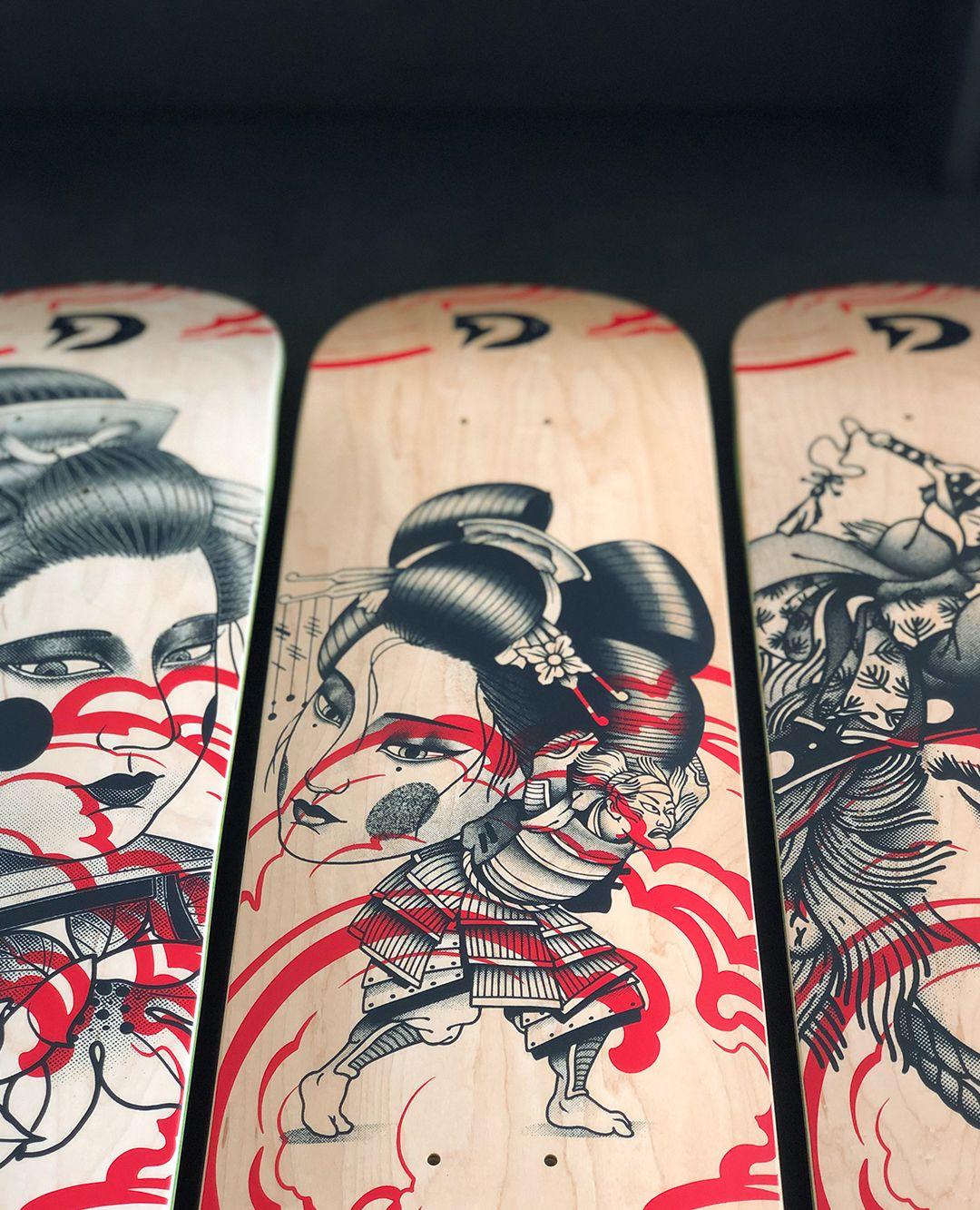 Geisha Series By Plot X Doble Skateboards 9