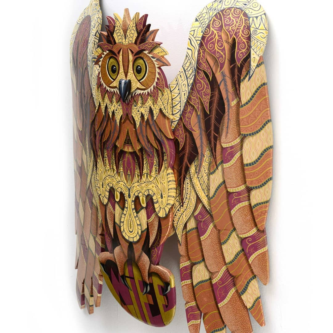 Owl Wild Life Skate Sculpture By Julien Feniau 5