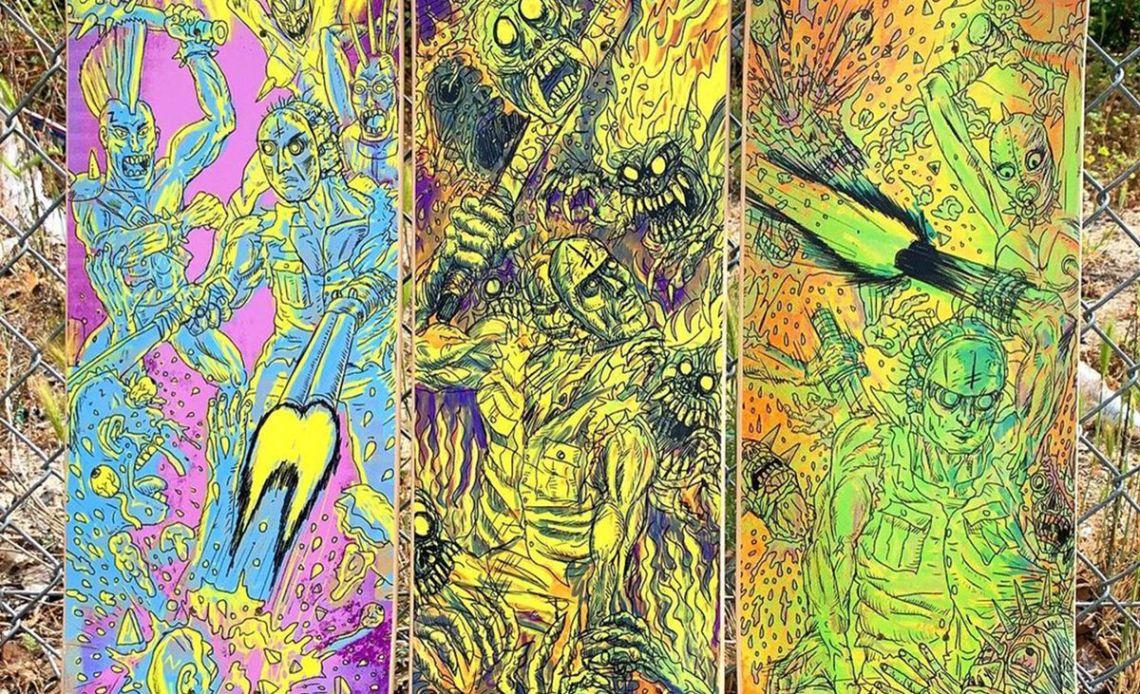Dystopia Series By Christy Karacas X Deathwish Skateboards 9
