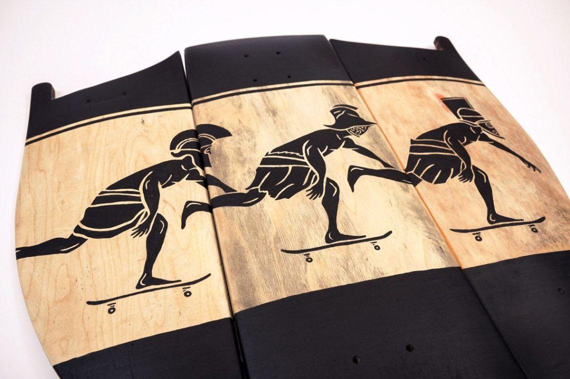 Skunus Gladiatorium Skate Sculpture By Rom Avjc 4