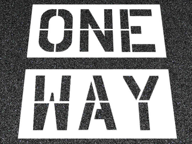 One Way. . .