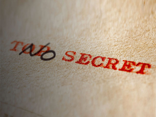 No Secret. . .