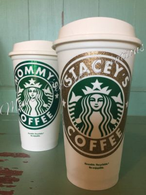 Glitter Reusable & Personalized Starbucks Cup - Go Green with style