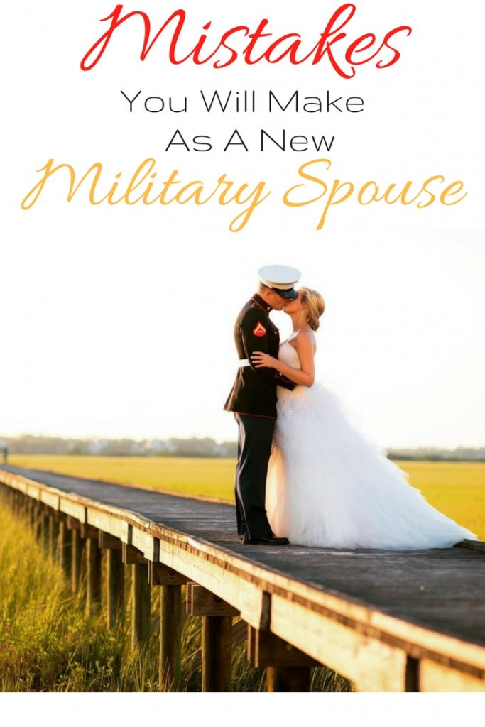 As a new military spouse you're bound to make mistakes. Like anything else, military life is a learning experience but the reward is great. To make it through all you need is resilience and a good sense of humor. To learn more about the mistakes you will make as a new military spouse check out this post on www.thedailyimpressions.com