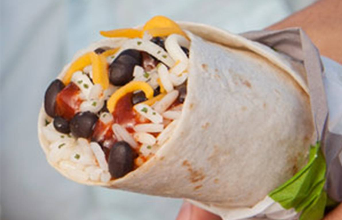 Taco Bell Black Bean Burrito from The Healthiest Things
