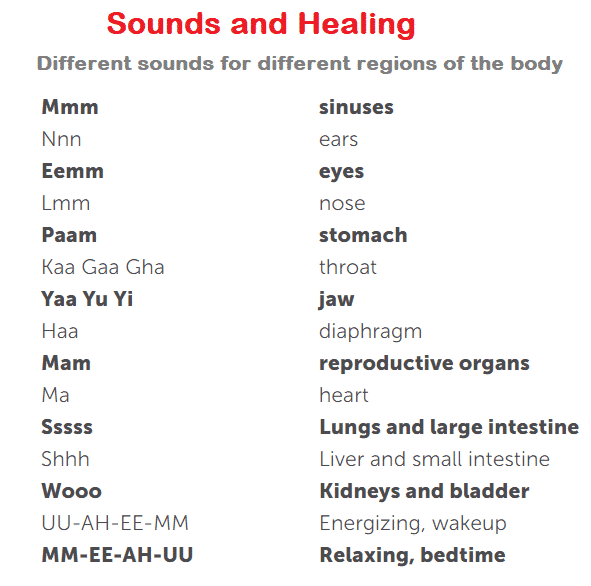 sound healing mantras