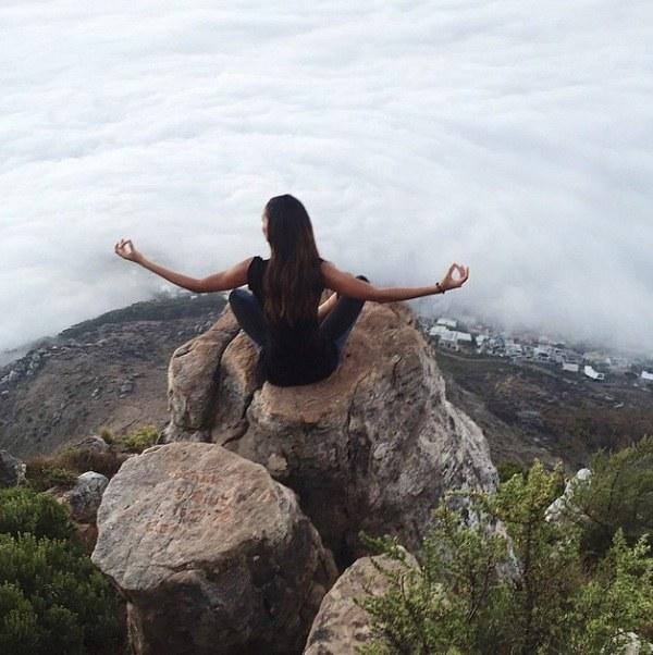 joan smalls meditating