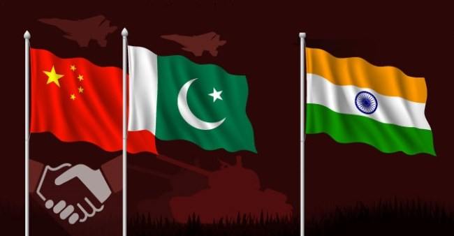 india two front war pak china