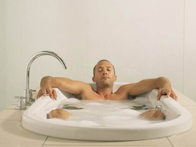 Bathing with Hot Water
