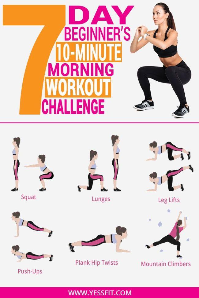7 days workout plan beginners