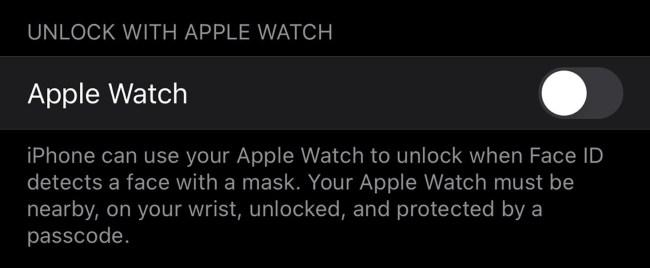 unlock-iPhone with Apple Watch iOS 14.5 beta