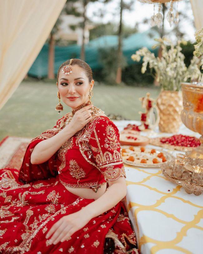 Hania Aamir Bridal Lehnga Red