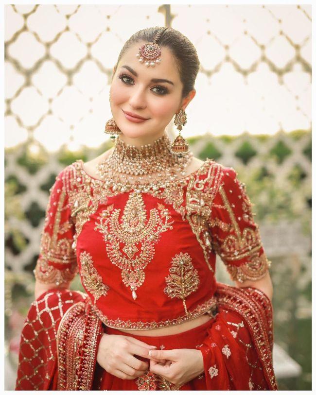 Hania Amir Red-Bridal-Dress