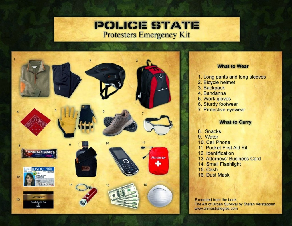 protest emergency kit