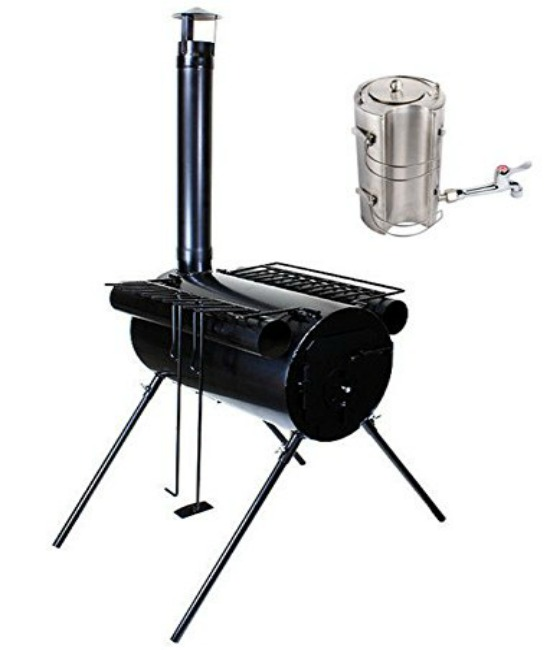 Portable military tent stove
