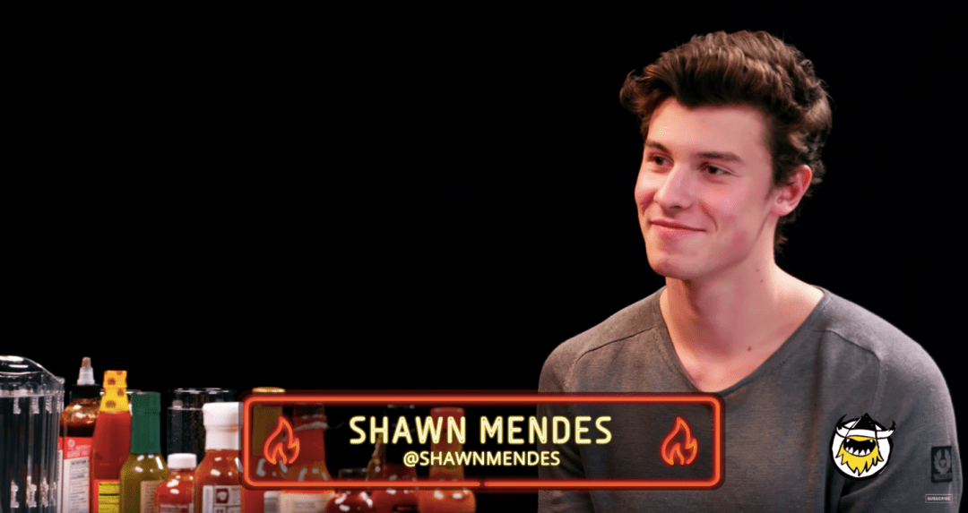 Watch Shawn Mendes Talk Music While Eating Spicy Wings