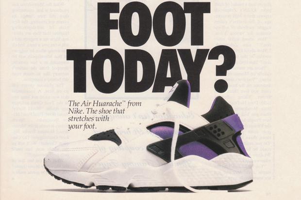 a5c083e4e2d0 Original 1992 Nike Air Huarache Advert