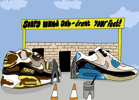 An Illustrated Preview of Nike SS13 Footwear by Josh Parkin for The Chimp Store 03