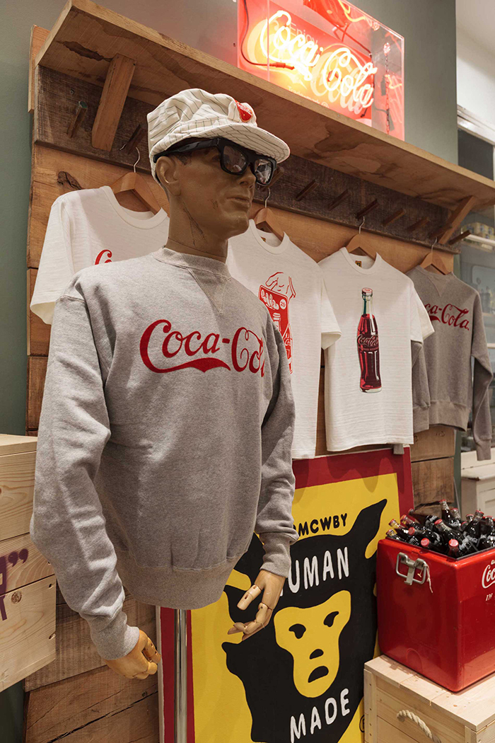 Human Made x Coca-Cola display Present London 02