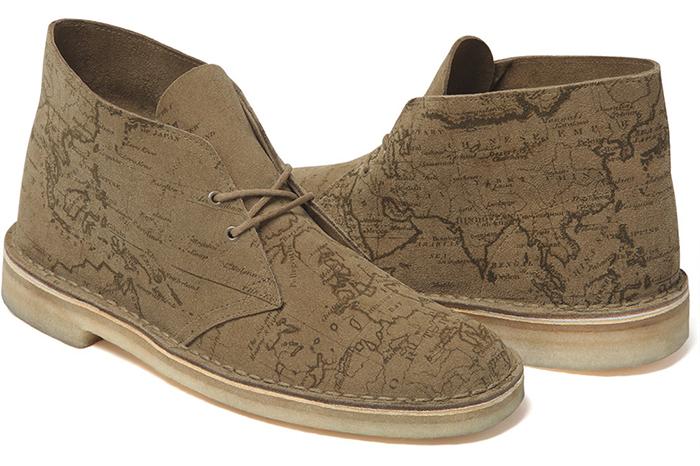 a2f7911529dece ... Supreme x Clarks Originals Map Suede Desert Boots 03 ...