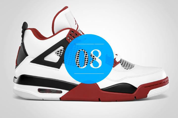 08 Nike Air Jordan 4 2012 Retro White Fire Red