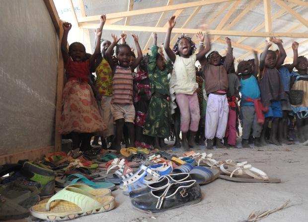 children at Mkopo refugee camp, Bangui, CAR