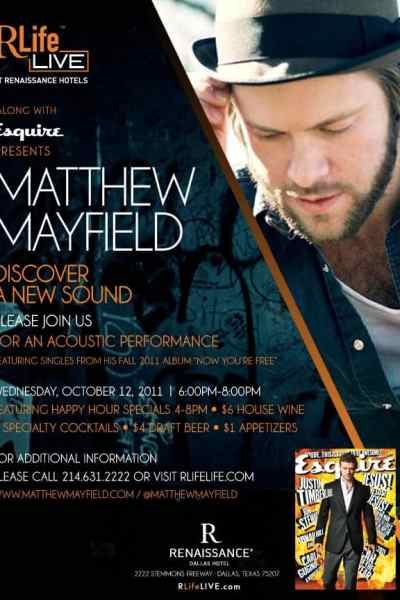 Renaissance Dallas Hotel Presents Free Concert with Matthew Mayfield
