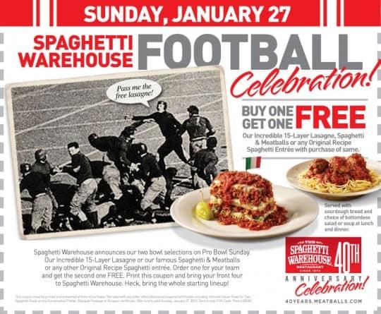 Spaghetti Warehouse coupon