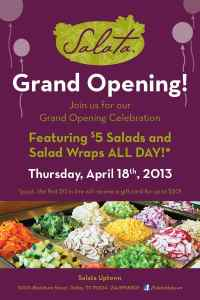 Salata Uptown Celebrates Grand Opening with $5 Salads