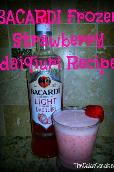 Thirsty Thursday: BACARDI Frozen Strawberry Daiquiri Recipe #BacardiClassicCocktails