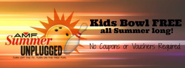 Kids Bowl Free all summer long with AMF Summer Unplugged. #free #summer #kids