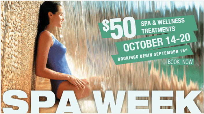 $50 Spa and Wellness Services during Spa Week