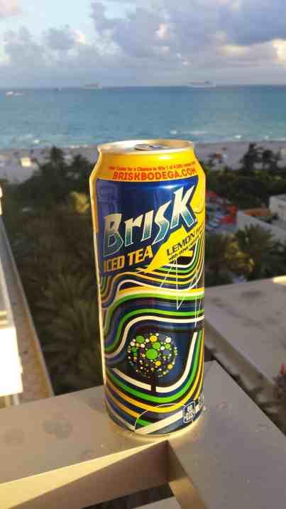 Brisk Iced Tea looking over Miami Beach - Brisk Bodega