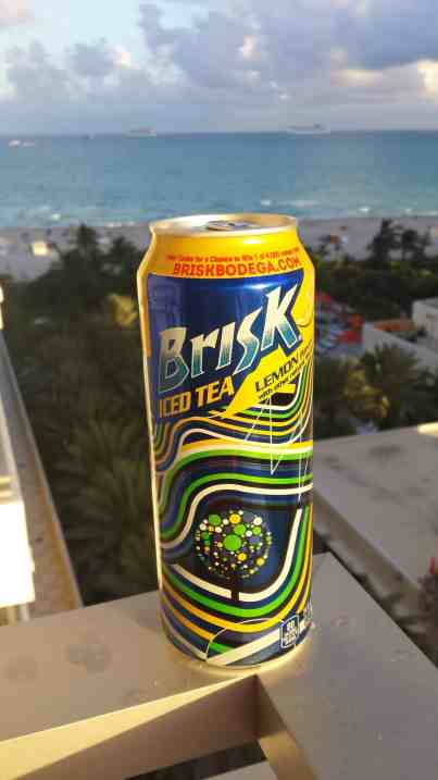 Brisk Iced Tea looking over Miami Beach - Brisk Bodega