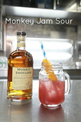 Monkey Jam Sour - Holiday Cocktail