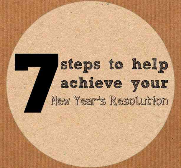 7 steps to help achieve your New Year's Resolution. #goals