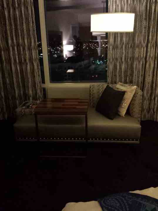 Reading Nook in the Master Bedroom at the W Hotel #dallas #hotel #travel