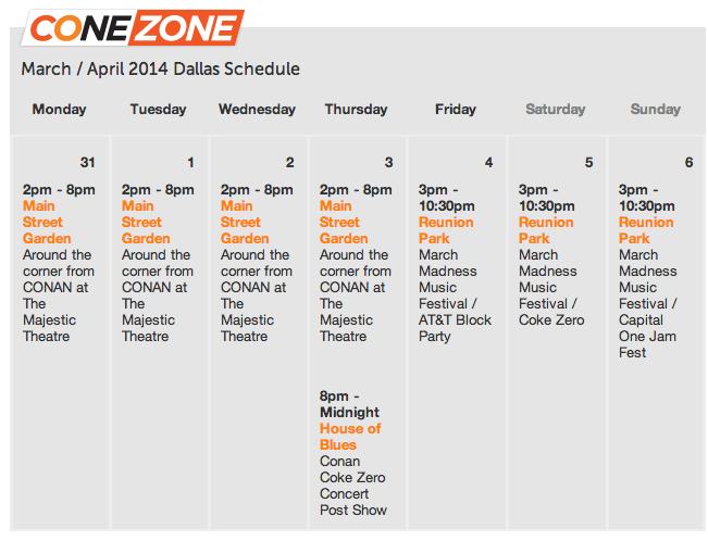 The Cone Zone - Conan O'brien in Dallas