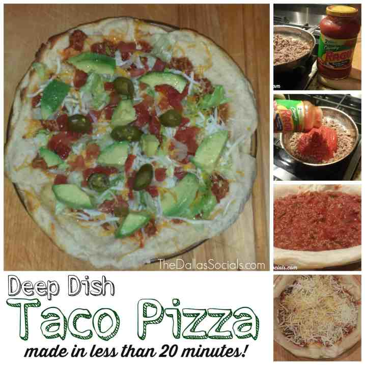 Deep Dish Taco Pizza (made in less than 20 minutes) #recipes #dinner #newtradish
