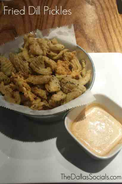 Fried Dill Pickles from 3 Stacks Frisco.