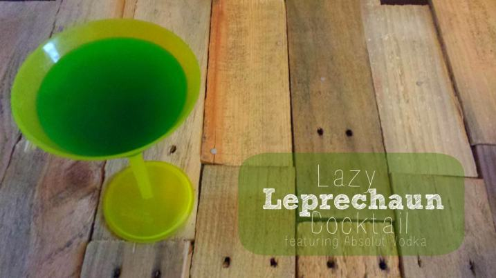 The Lazy Leprechaun Cocktail made with Absolut Vodka makes the perfect (easy) St. Patricks Day drink!